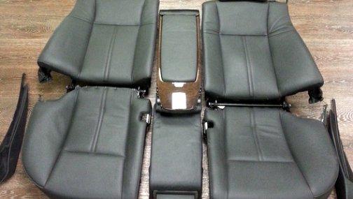 E65 задние сидения (черные электрические)